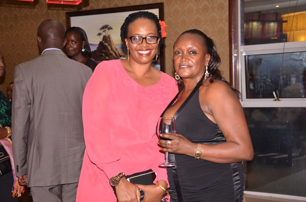 Tooro's protocol minister Rosalinda Birungi and businesswoman Alexis