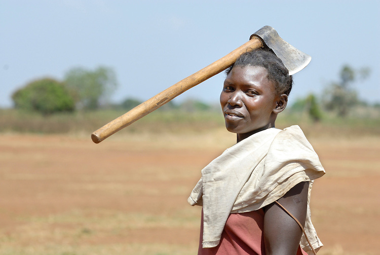 A woman in the Nam-Okora camp for internally displaced persons in northern Uganda.
