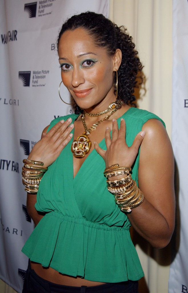"""BEVERLY HILLS, CA - FEBRUARY 12:  Actress Tracee Ellis Ross attends """"Bvlgari Celebrates Valentine's Day At Its New Rodeo Store"""" at the Bvlgari Store on February 12, 2003 in Beverly Hills, California.  (Photo by Jon Kopaloff/Getty Images)"""