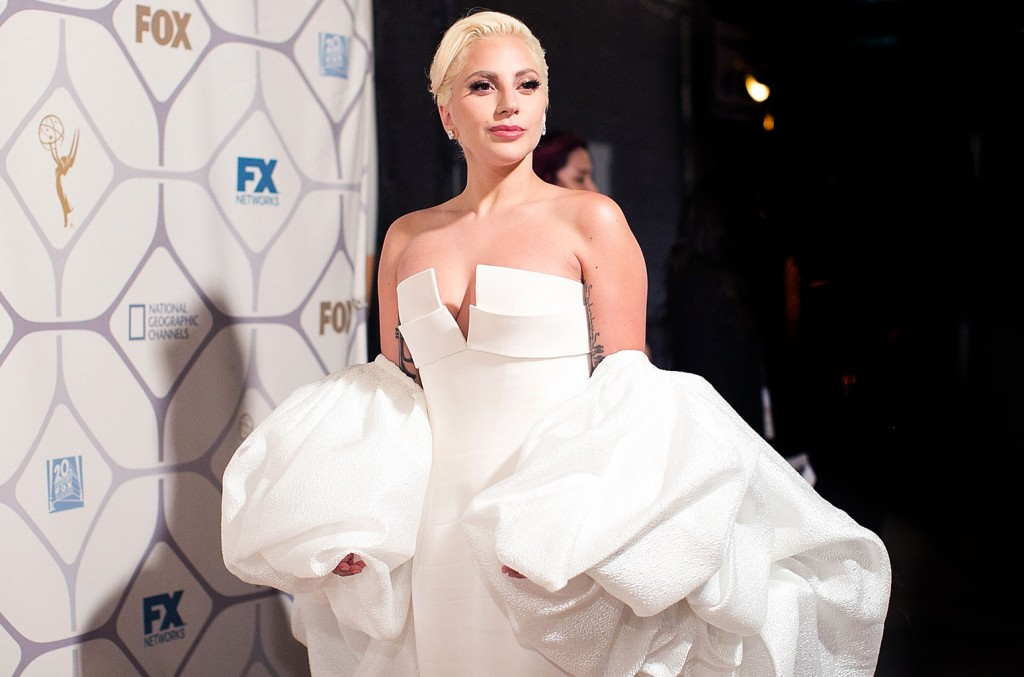LOS ANGELES, CA - SEPTEMBER 20:  Lady Gaga arrives for the 67th Primetime Emmy Awards Fox After Party on September 20, 2015 in Los Angeles, California.  (Photo by Gabriel Olsen/FilmMagic)